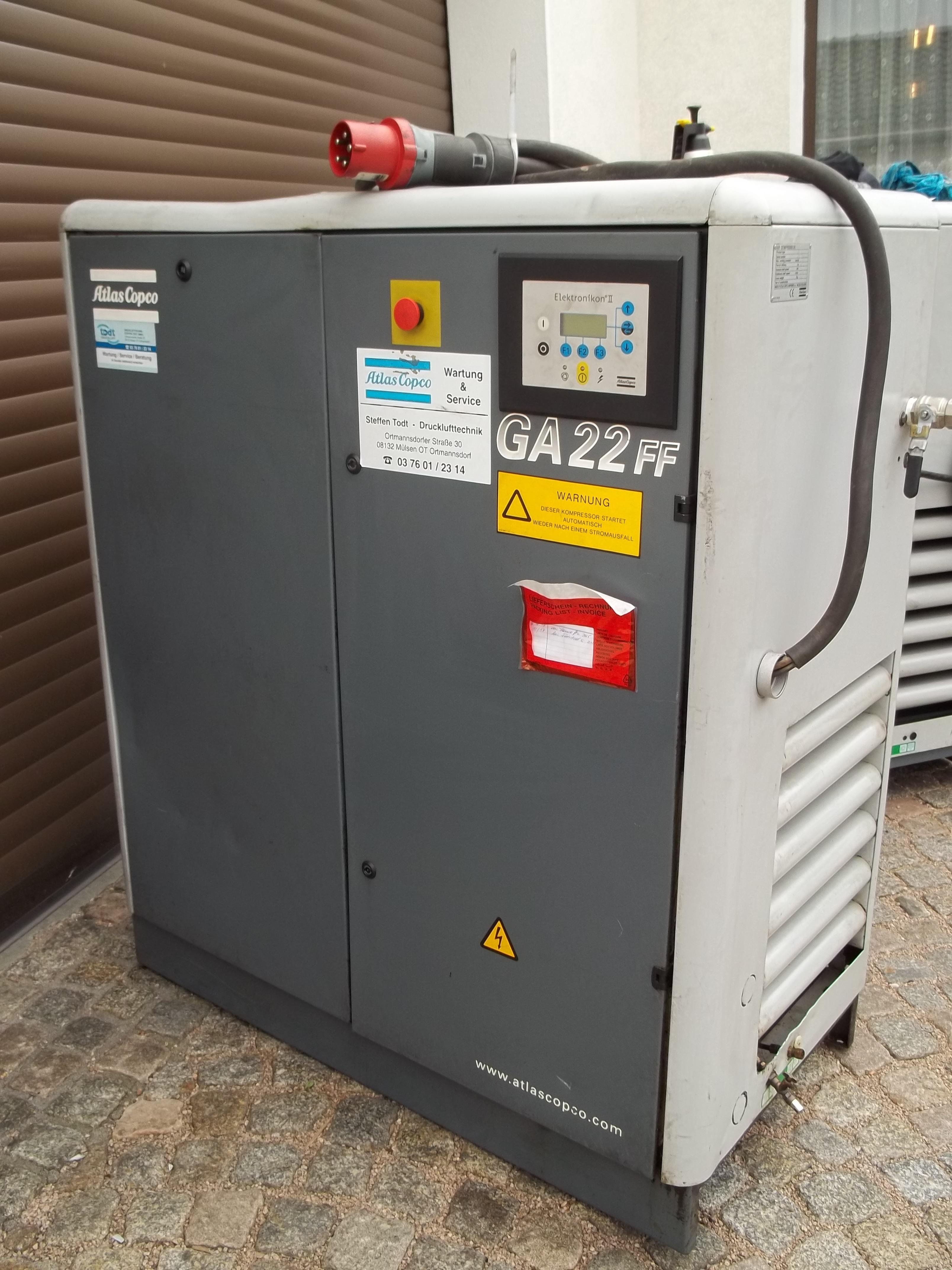 GA 22-8,5 FF mit integriertem Kältetrockner
