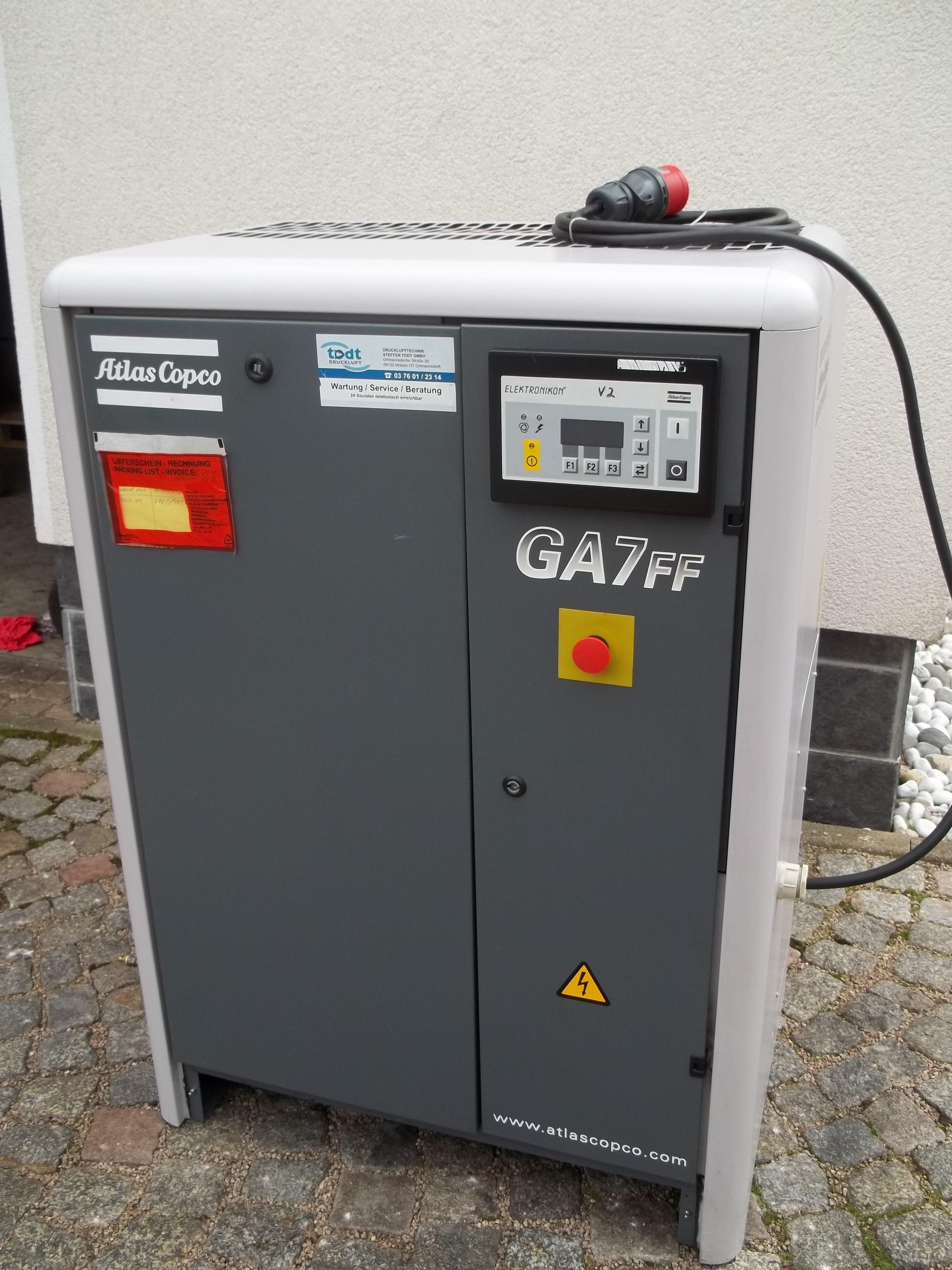GA 7-8,5 FF mit integriertem Kältetrockner