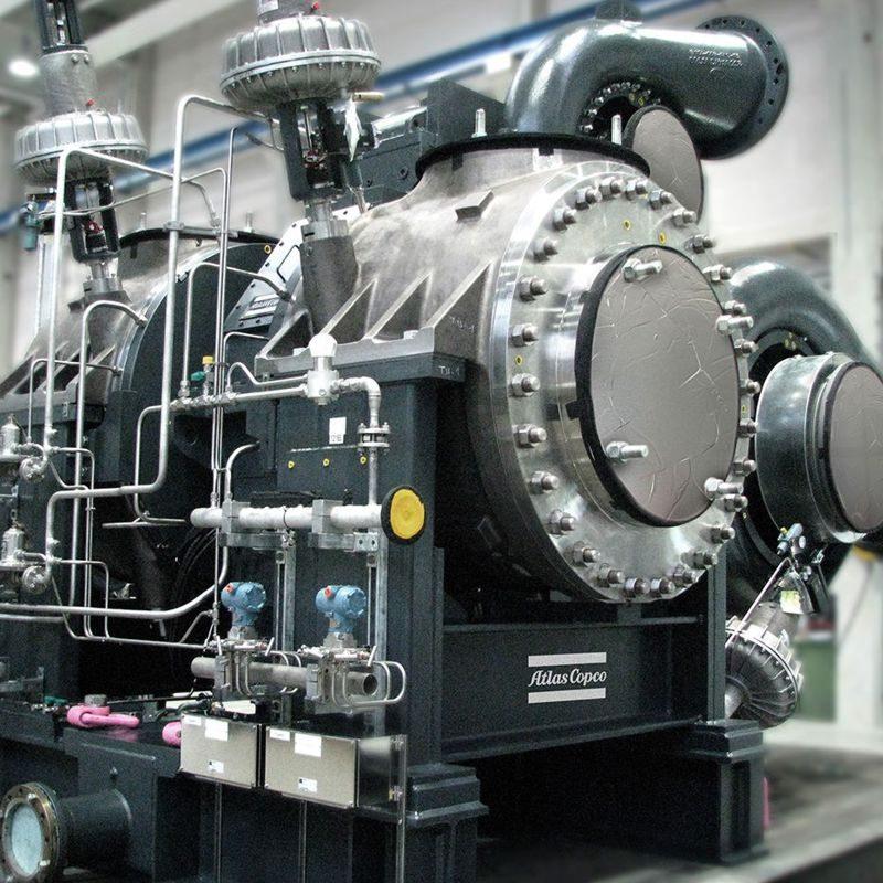 Getriebekompressor mit Radialturbine (Zustrom)