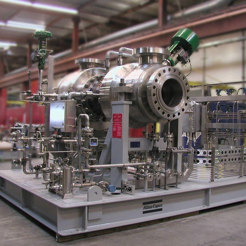 Expander-Kompressoren der Serie EC für Kohlenwasserstoffe, Petrochemie